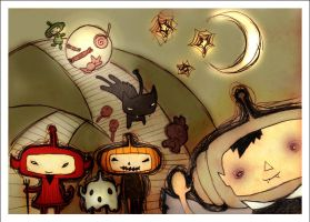 halloween katamari damacy by iwaslikeWEEE