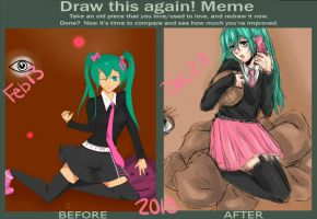 Draw this again! - Miku by neon-shan