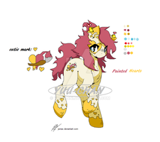Painted Hearts Pony Adopt (CLOSED) by Yuu-Tanni