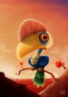 Hornbill character design by WillFx