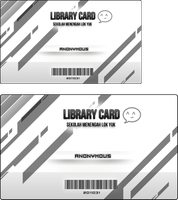 Library Card Layout by nubpro