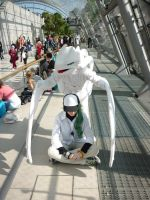 Reshiram and N Harmonia Leipziger Bookfair 2012 by Senria-chan