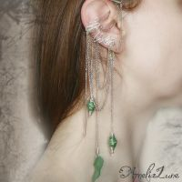Green Faerie Ear Cuff by AmeliaLune