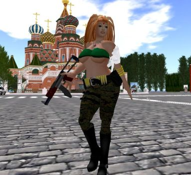 Octobriana Avatar (Red Square) by LauraSeabrook