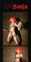 red sonja custom action figure by chachaman