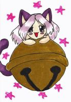 ACEO - Chibi Cat girl with a Bell by bittykitty