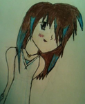 Anime Girl With Brown And Blue Hair  By Lenalee417 by Lenaleekitkat