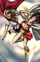 Catfight! Supergirl Vs Mary Marvel by artoftheman