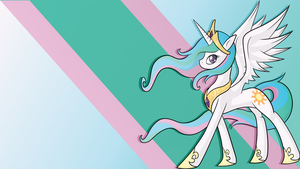 Princess Celestia Wallpaper by JeremiS
