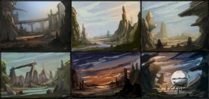 Environment Speed Paintings by ClaytonBarton