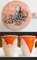 Cup with Octopus by MarcoPagnotta