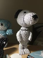 3D Origami Snoopy (front view) by Joeseares96