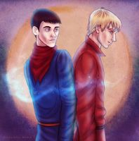 I'm Glad You're Here, Merlin by avalonlights