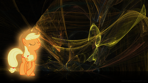 Posing Applejack Fractal Wallpaper by Silentmatten