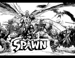spawn promo spread inks by spidey0318