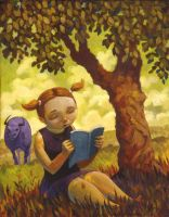 Reading Bull by jasinski
