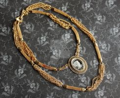 Intaglio Necklace on Brass by dbvictoria