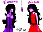 Evandra and Felicia by Desy017