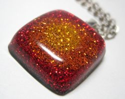Fire Burst Resin Pendant by ExperienceDesigns