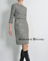 Check Wool Tulip Dress by yystudio