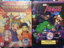 Digimon and The Avengers by 3D4D
