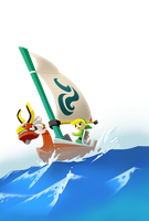 The Legend of Zelda : The Wind Waker - Sailing by firedragonmatty