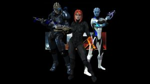Mass Effect Team by MadamGoth