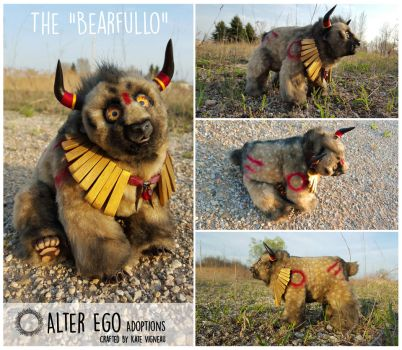 ADOPTION: The Bearfullo - Poseable Hand Made Doll by AlterEgoProductions