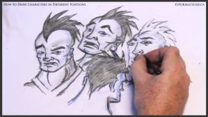 Learn to draw characters in different positions 32 by drawingcourse