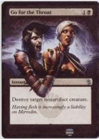 Go for the Throat card alter 2 by propsofprophecy