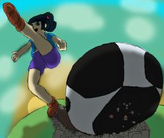 Jenny's Giantess Sports - COLORED VERSION by DeferredGalaxy3