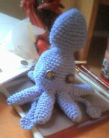 Crochet squid by aesiraven