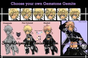 Choose your own Gemstone Adoptable Sheet [CLOSED] by SeraphEnigma23