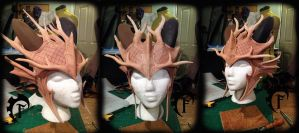 Forest dragon crown WIP by Feral-Workshop