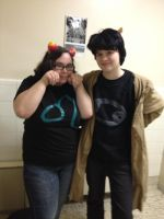 Homestuck- Nepeta and Karkat! by L-luvs-cake