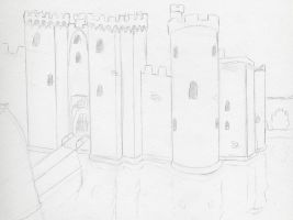 Bodiam Castle by MineralRabbit