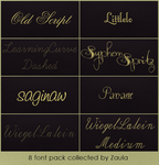 #2 8 font pack collected by Zaula by ZaulaGraphics