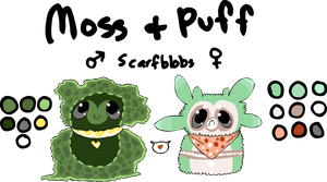 moss + puff ref by tinydoodles