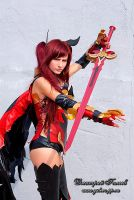 Erza Scarlet Fire Empress by A5uKa