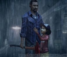 Lee and Clementine - Rainy Day by Tazzle28b
