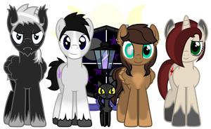 Family Portrait - The House of Umbra (Size Ref) by partiallyBatty