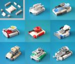 Lego Microscale Tanks Compilation by multihawk