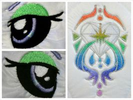 Prism Heart Embroidery by equinepalette