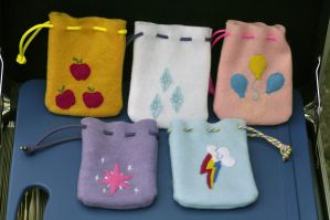 *NEW LOW PRICE!*  MLP FiM Cutie Mark Coin Pouches by Obsessor0fThings