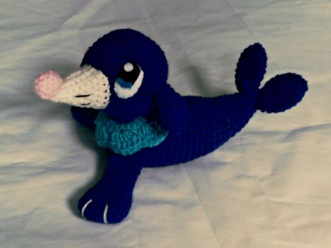 Bwarf the Crochet Popplio Plush by ArtisansShadow