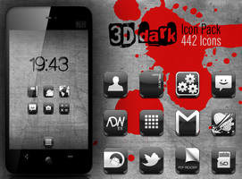 3D Dark - Icon Pack by omerus