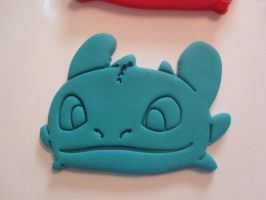 Toothless Face Cookie Cutter Test 02 by B2Squared