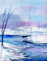 JANUARY SNOWSCAPE by aragonia