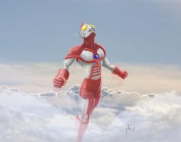 Ultraman Flight landscape by manguy12345