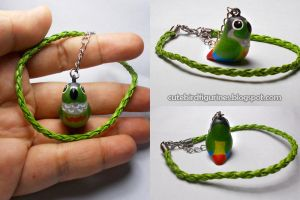 GCC Conure parrot car's rear mirror charm by emmil